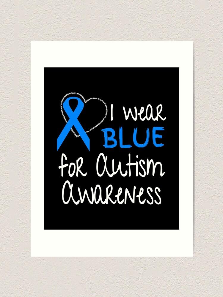Blue Ribbon Tote Bag for Autism Awareness Autism Support Ribbon Canvas Bag Autism Awareness Month Autism Gifts Blue Ribbon Autism Book Bag