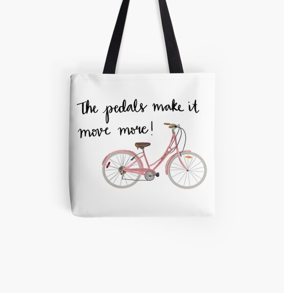 The pedals make it move more! All Over Print Tote Bag