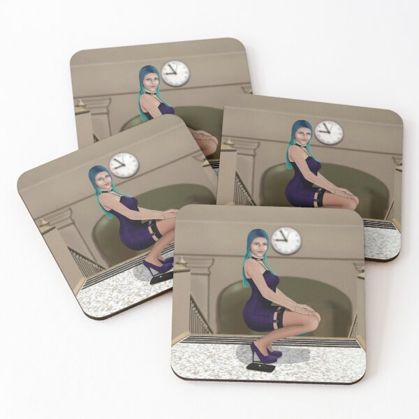 Meet Me At the Top of the Stairs Coasters (Set of 4)