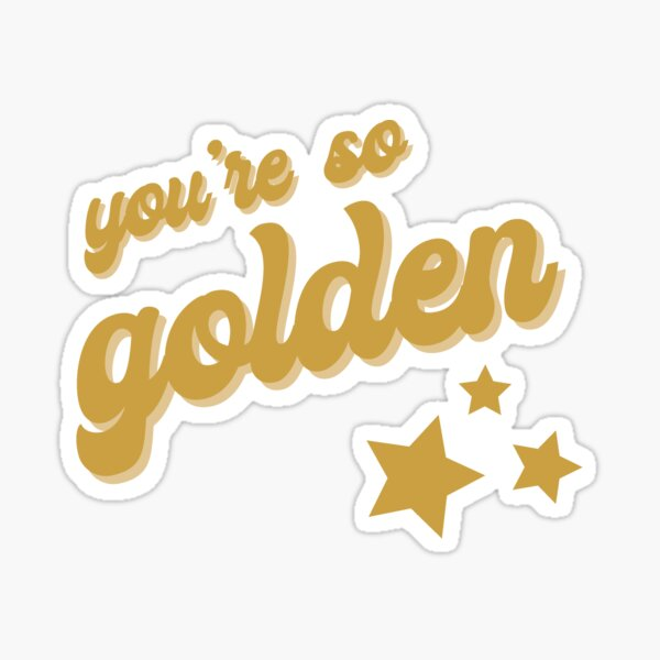 Golden - Harry Styles Fine Line Sticker