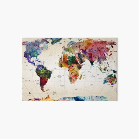 map Art Board Print