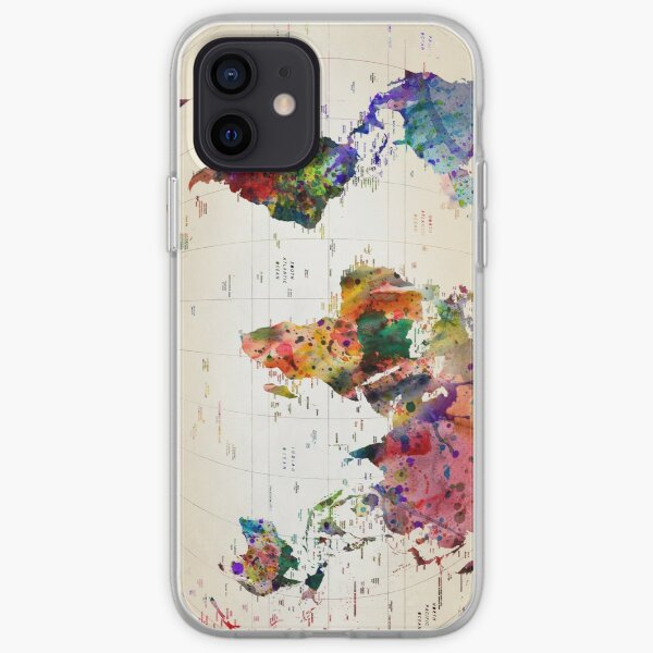 map iPhone Soft Case