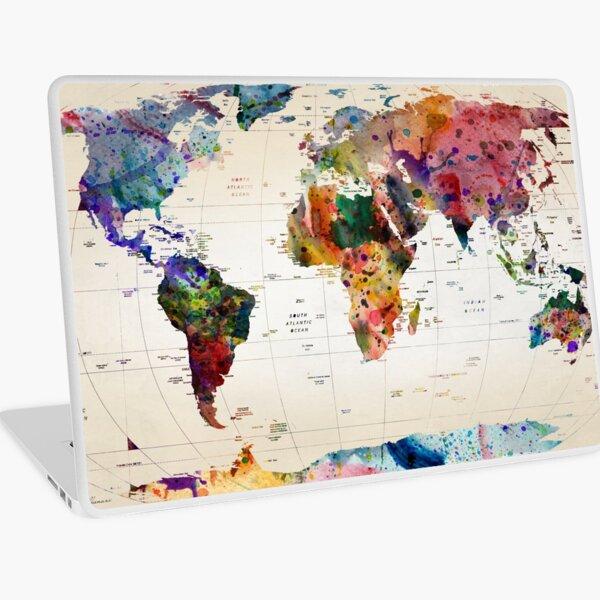 map Laptop Skin