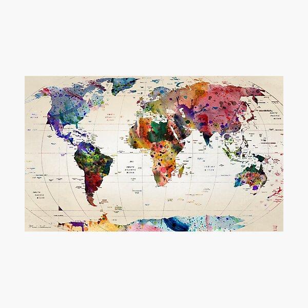 mapa Lámina fotográfica