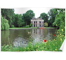 An idyllic spot on the river Vecht Poster