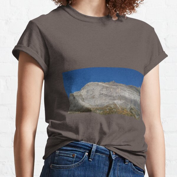 mountain blue sky rocky panorame Classic T-Shirt