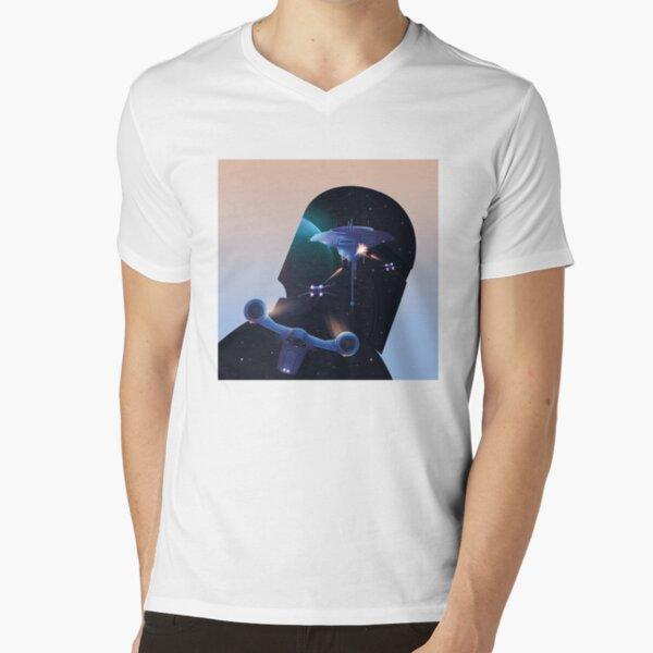 Space battle V-Neck T-Shirt