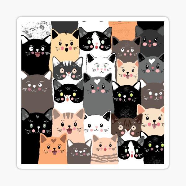 Cats / cubical Sticker