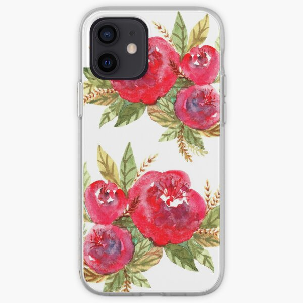 Red Flowers iPhone Soft Case