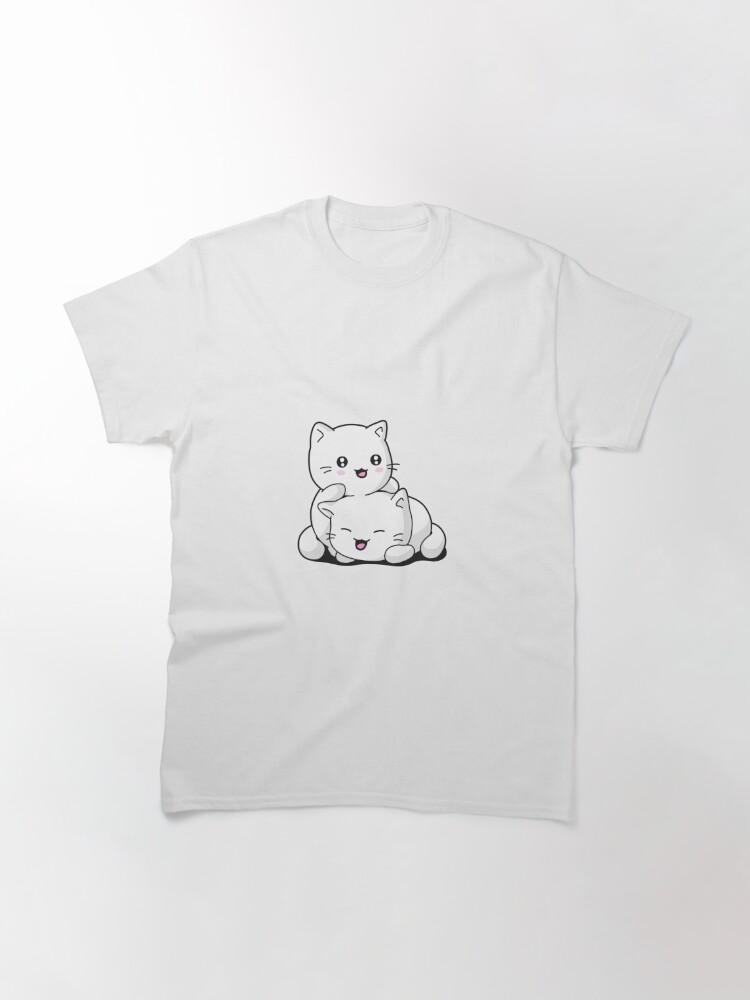 T-shirt classique ''Chaton kawaii': autre vue