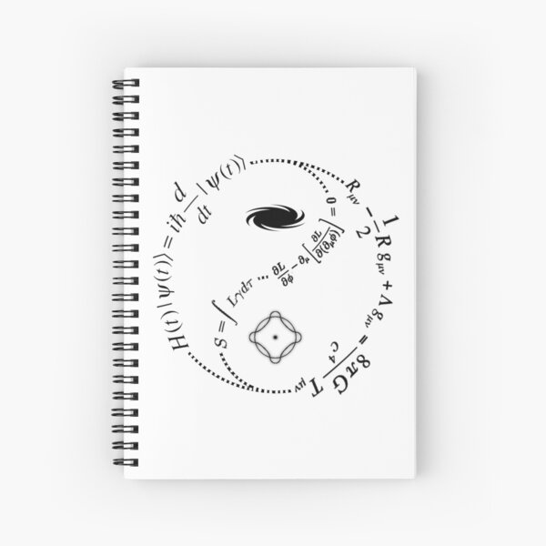 Yin Yang of Physics [LIGHT] Spiral Notebook