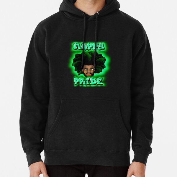 Nappy Pride: AfroMan All Green - Mi Familia Series  Pullover Hoodie