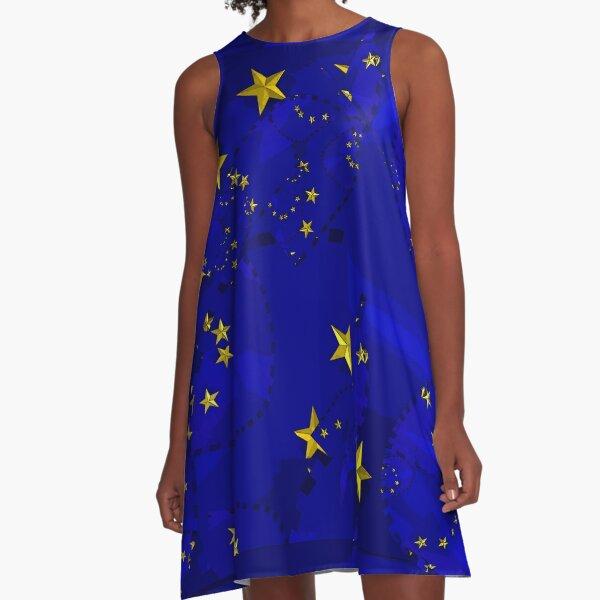 Eu Flag pattern A-Line Dress