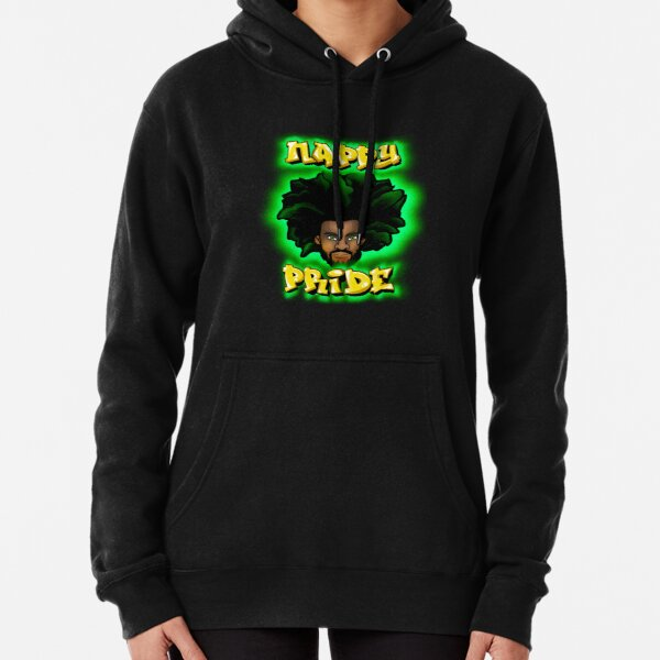 Nappy Pride: AfroMan Green & Gold - Mi Familia Series  Pullover Hoodie