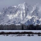 Winter Morning In The Tetons by Stephen Vecchiotti