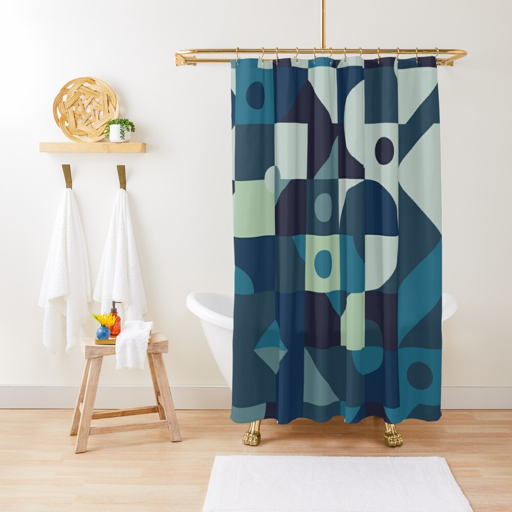 Sea of Times Shower Curtain