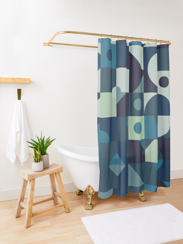 Alternate view of Sea of Times Shower Curtain