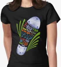 Tap Shoe Color - Dark Women's Fitted T-Shirt