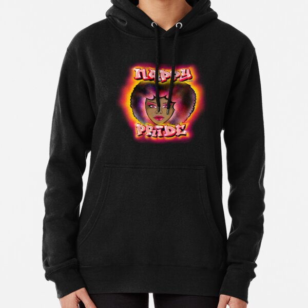 Nappy Pride: Afro Woman Pink Mi Familia Series  Pullover Hoodie