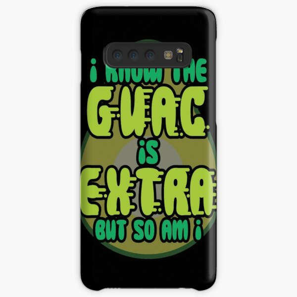Guacamole I Know The Guac Is Extra But So Am I Avocado Gift design Samsung Galaxy Snap Case