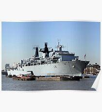 Warship HMS Bulwark Poster