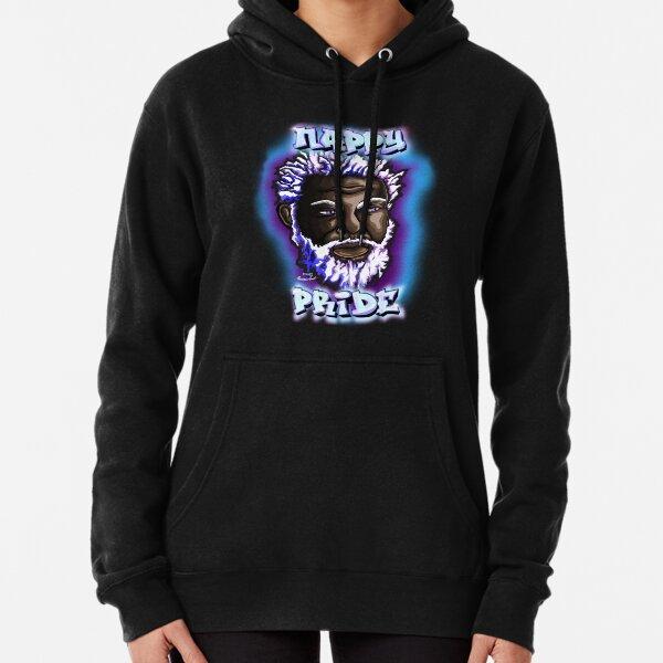 Nappy Pride: SexyFox Blue & Purple Mi Familia Series  Pullover Hoodie