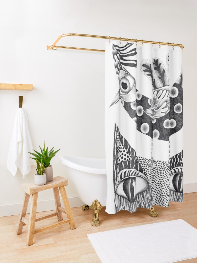 Alternate view of Together  Shower Curtain