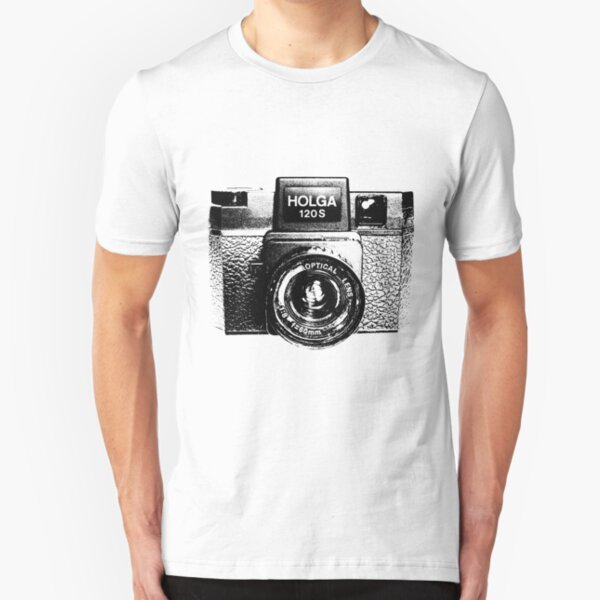 Holga 120S Black (Big) Slim Fit T-Shirt