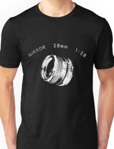 Nikkor 28mm White Unisex T-Shirt