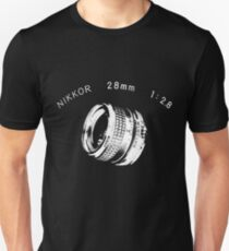 Nikkor 28mm White Unisex T-Shirt