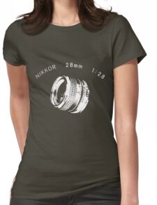 Nikkor 28mm White Womens Fitted T-Shirt