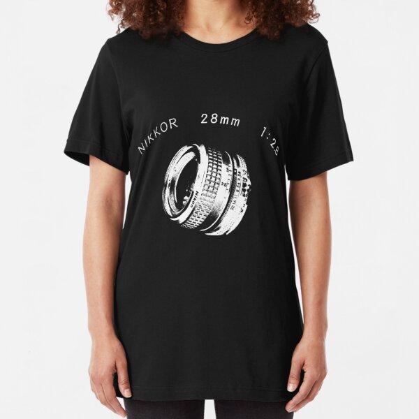 Nikkor 28mm White Slim Fit T-Shirt