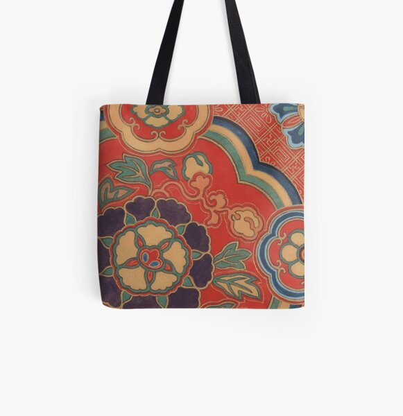 VINTAGE CHINESE BROCADE Pop Art All Over Print Tote Bag