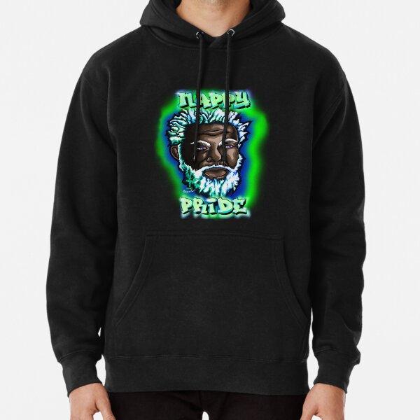 Nappy Pride: SexyFox Green & Blue Mi Familia Series  Pullover Hoodie