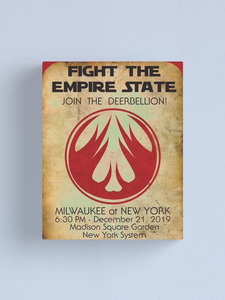 Alternate view of Fight the Empire State Canvas Print