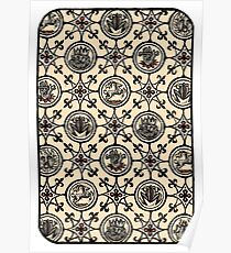 Back of Divination Card Poster