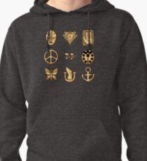 Bizarre Emblems Pullover Hoodie