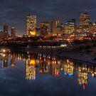 Cloudy evening over Edmonton, AB Canada by camfischer