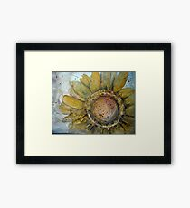 Flower grunge Framed Print