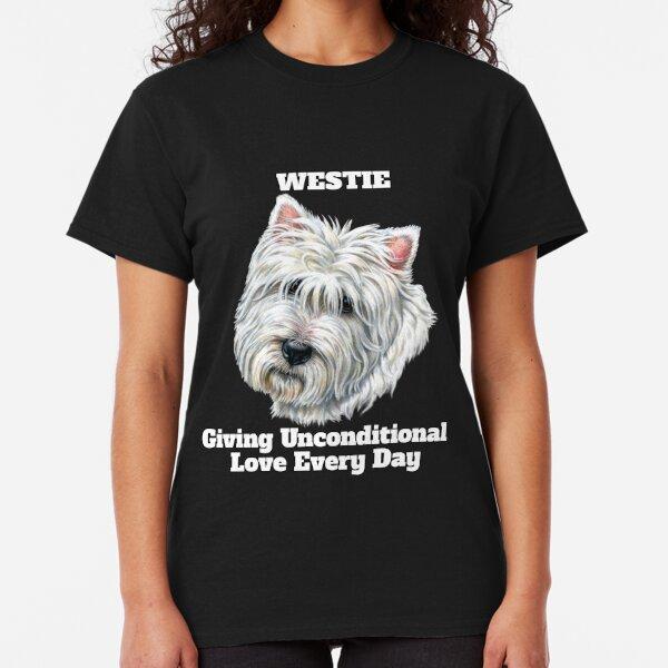 shirt Dog Crew Neck Tee West Highland Terrier Unicorn Tshirt Black T Westie