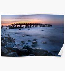 Wooden Pier Sunrise Poster