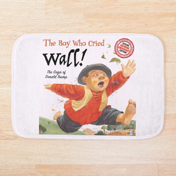 The Boy Who Cried Wall!  Bath Mat