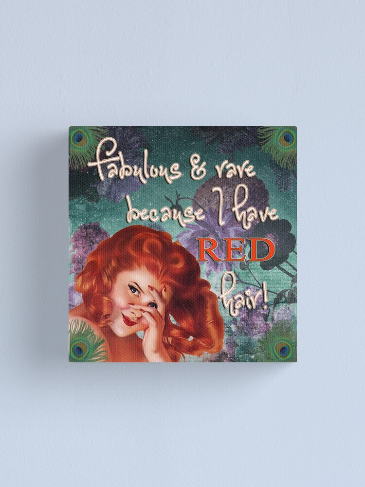 Alternate view of Fabulous and rare because I have red hair! Canvas Print