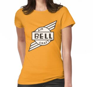 Bell aircraft company retro logo stickers by warbirdwear for Women s company logo shirts