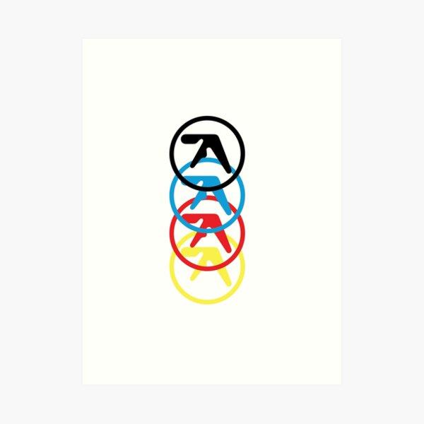 Aphex Twin multi colored logo  Art Print