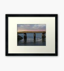 Wooden Walkway to the Jetty in Plymouth Harbor Framed Print