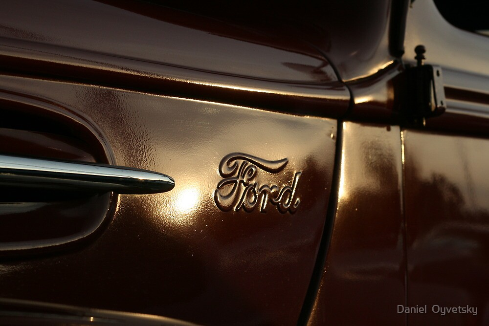 Just an OLD FORD Truck and the Sun by Daniel  Oyvetsky