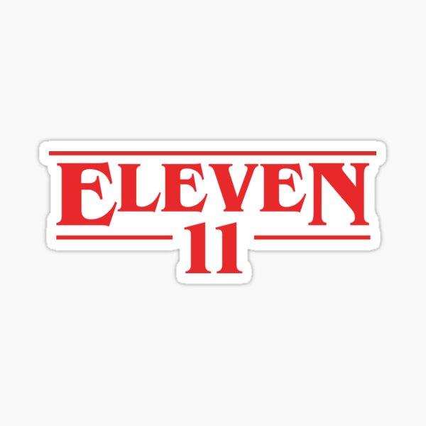 Eleven Stranger Things Style Logo Sticker