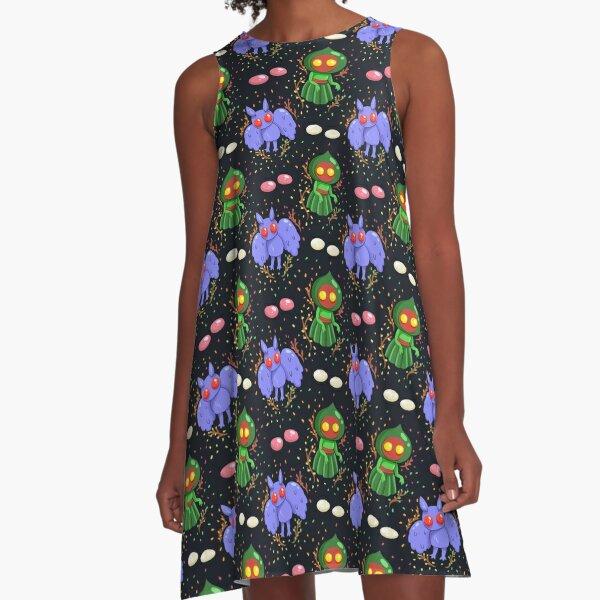 mothman and flatwoods monster A-Line Dress