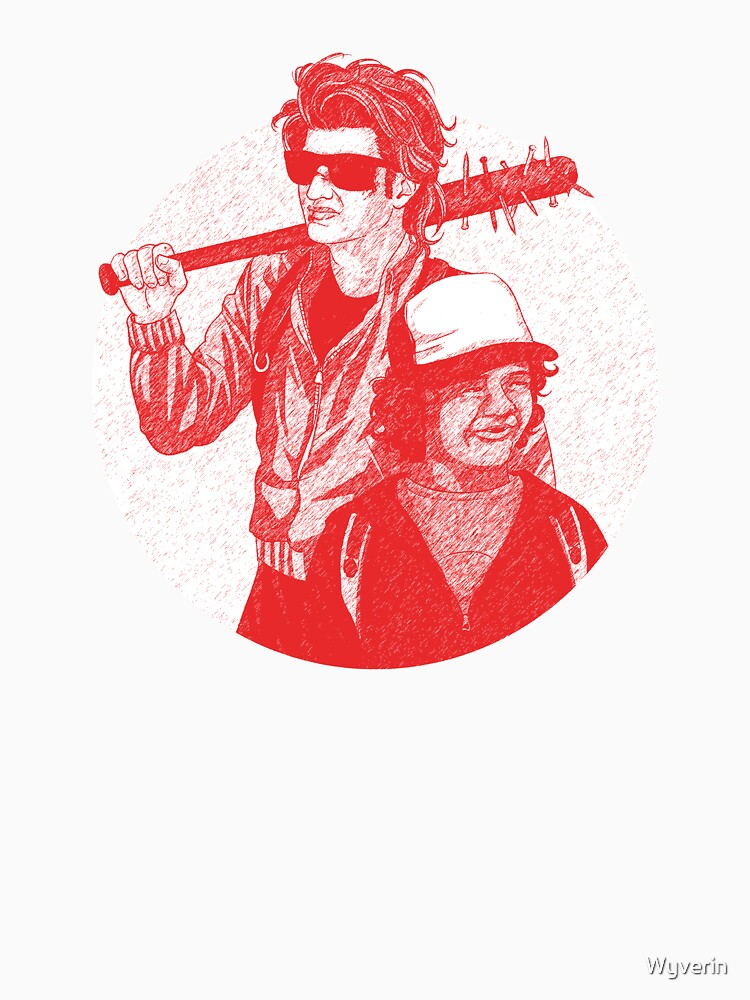 Steve and Dustin Stranger Things Drawing by Wyverin